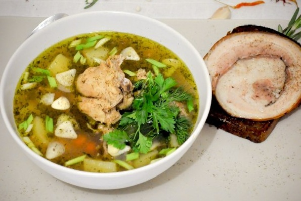 гречневый суп с курицей фото