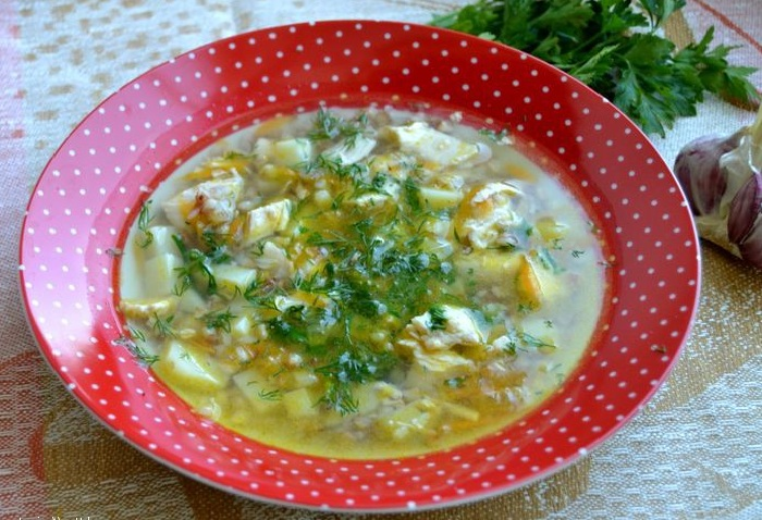 как приготовить гречневый суп с курицей фото