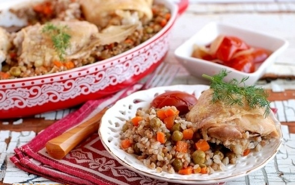 Каша гречневая рассыпчатая: рецепт гречневой каши с грибами, курицей и овощами