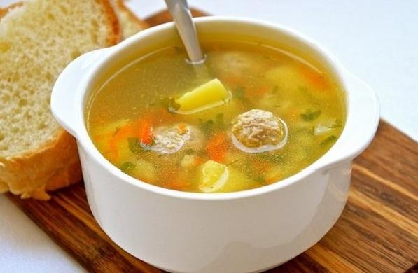 суп гречневый с фрикадельками фото
