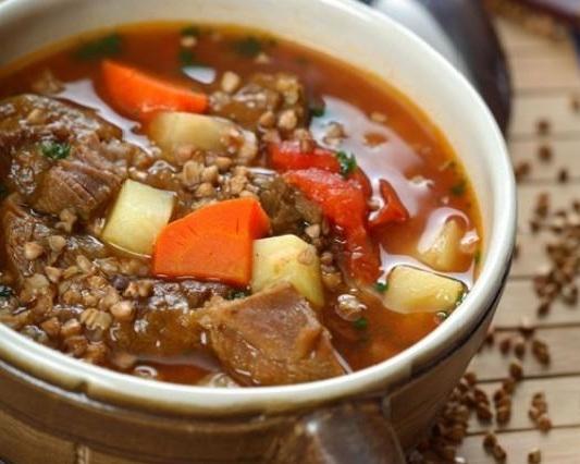 суп из гречки с мясом фото