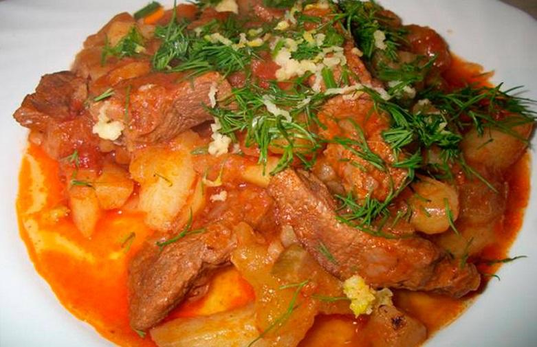 рецепт с фото азу по-татарски рецепт с фото