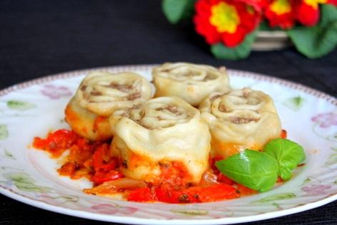 ленивые манты рецепт с фото пошагово на сковороде в соусе