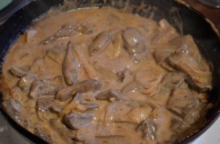 Печень куриная по строгановски классический рецепт